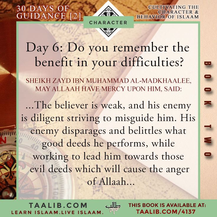30 DAYS-Book 2] Day 6: Do you remember the benefit in your